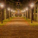 Nachtaufnahme Cromford Park in Ratingen (HDR)