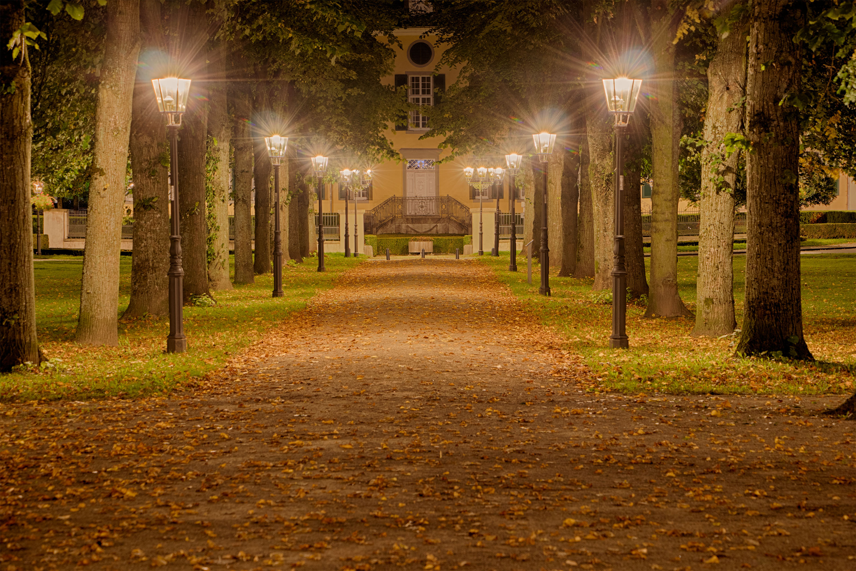 Nachtaufnahme im Cromford Park