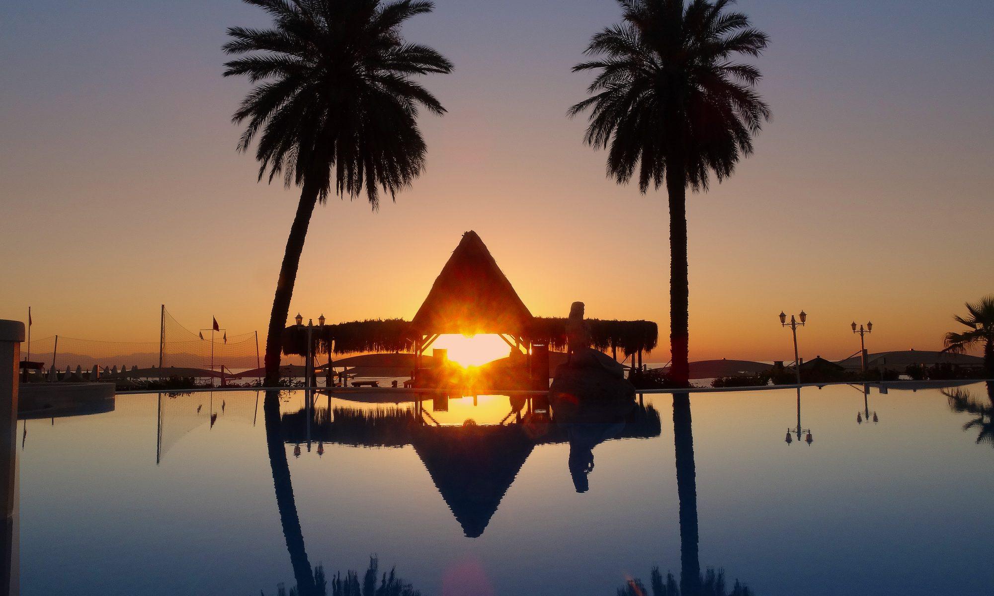 Sonnenaufgang im Amara Club Marine